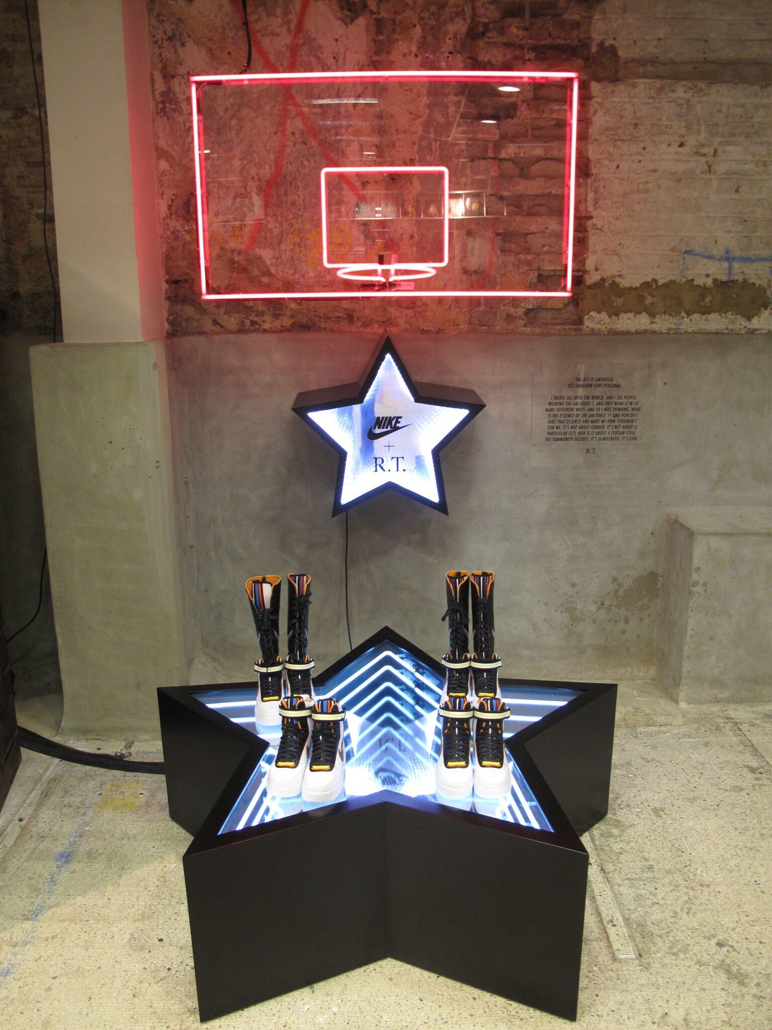 Neon and LED Retail Display plinth/ Nike Basketball/ Hotel Creative