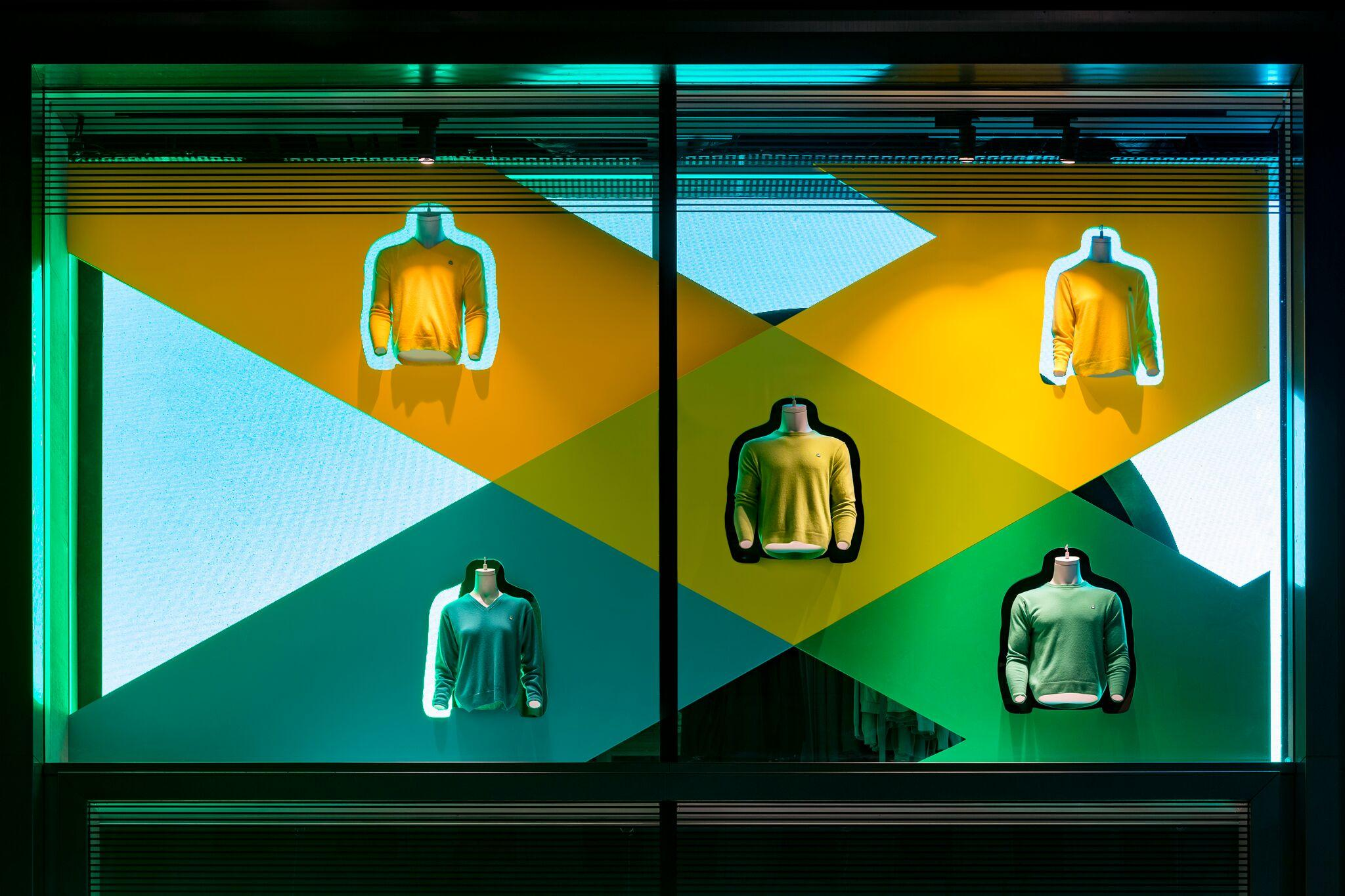 Retail Display Production Benetton Window Green