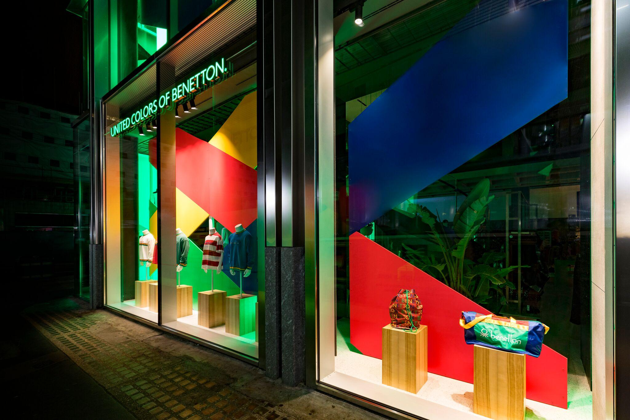 Retail Display Production Benetton Window Plinth Side